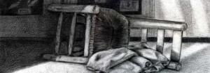 Silla dibujada con lápiz de grafito por Patricia Diz